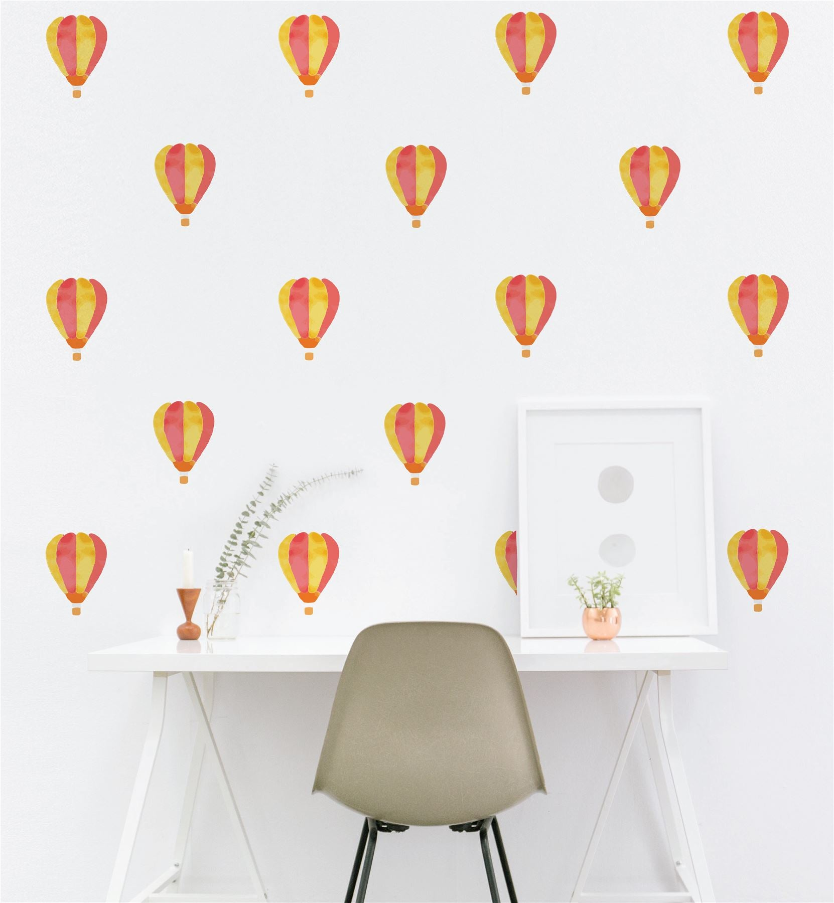 Hot Air Balloon (Collection Of 28) Wall Sticker Decal