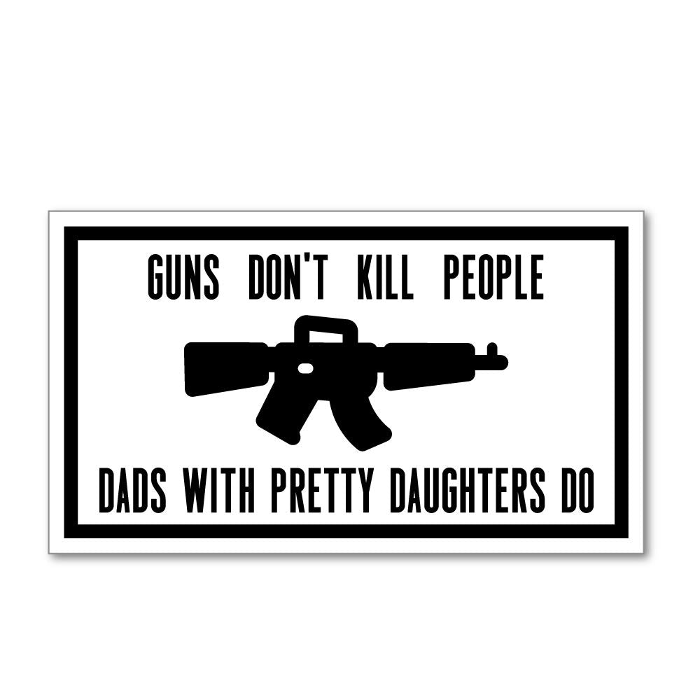 Gun Do Not Kill People Sticker Decal