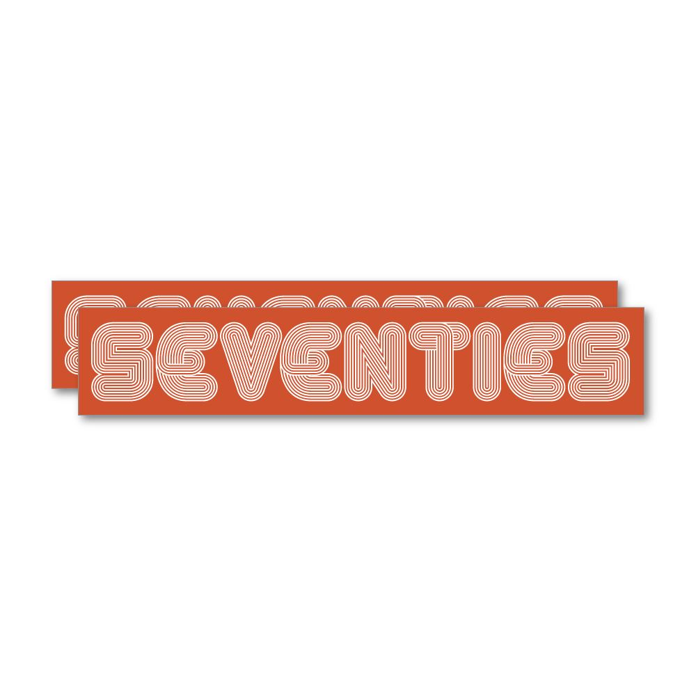 2X Seventies 70S Sticker Decal
