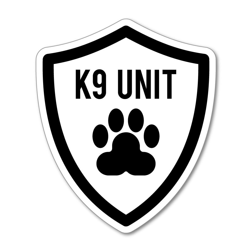 K9 Unit  Sticker Decal