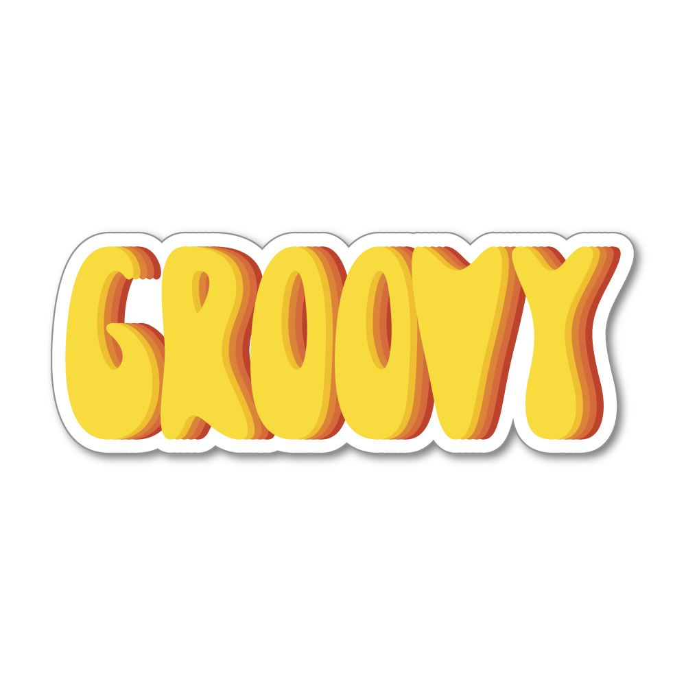 Groovy Sticker Decal