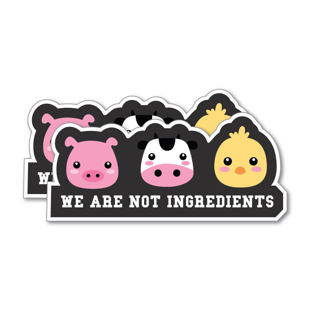 2X We Are Not Ingredients Sticker Decal