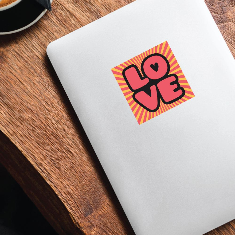 Pop Love Sticker Decal