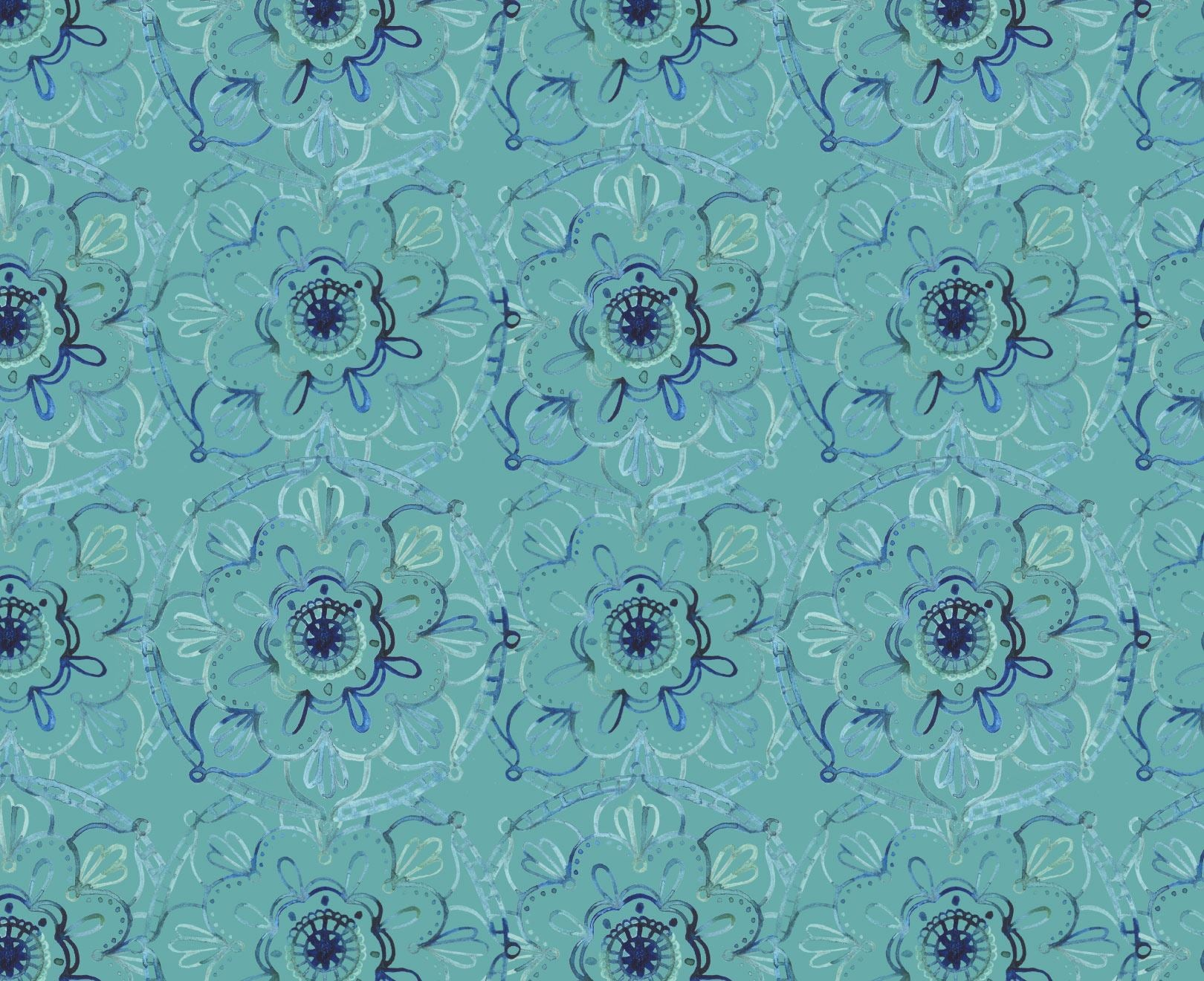 Mandella Peacock Wallpaper