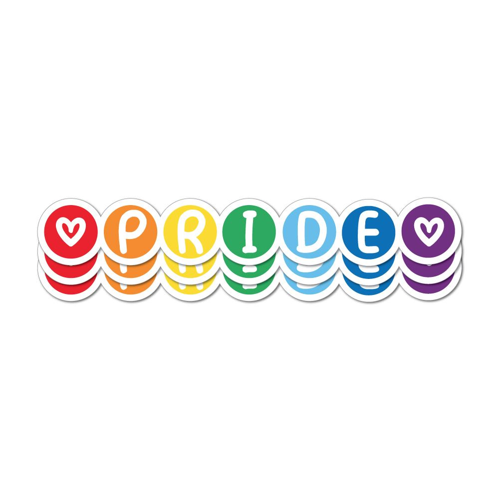 Gay Pride X3 Sticker Decal