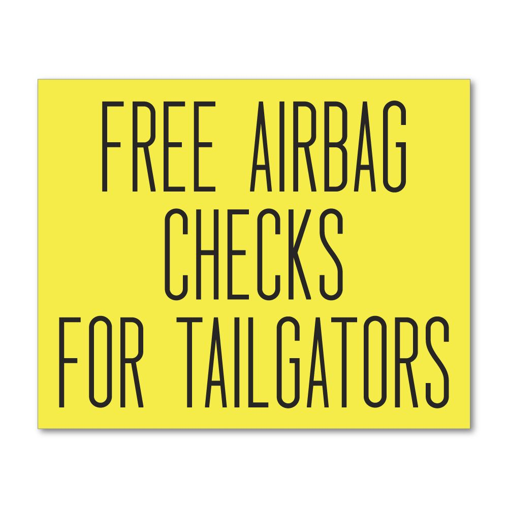 Free Airbag Checks Sticker Decal