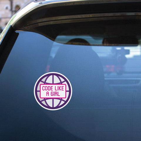 Code Like A Girl Sticker Decal