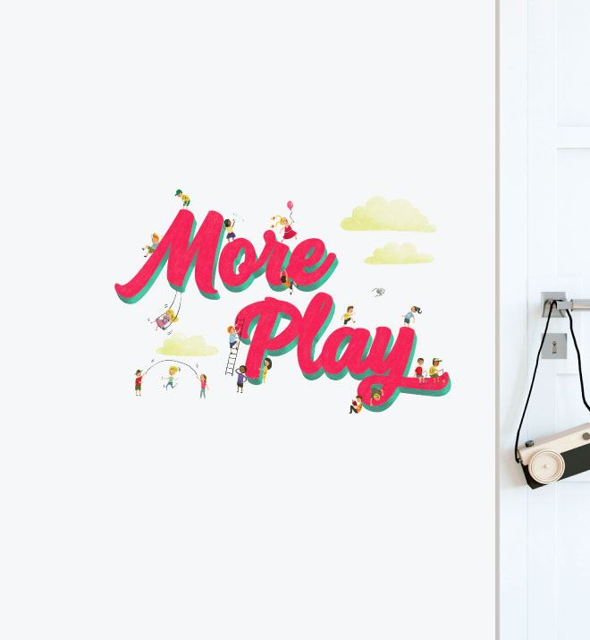 More Play For Kids Wall Sticker Decal