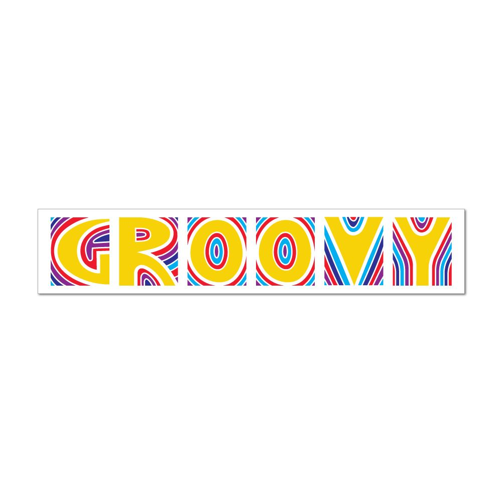 Groovy Car Sticker Decal