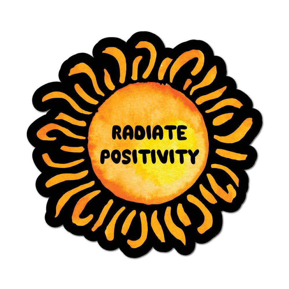 Radiate Positivity Car Sticker Decal