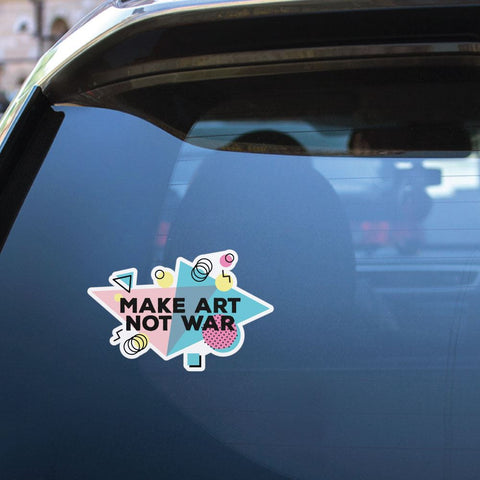 Make Art Not War Sticker Decal