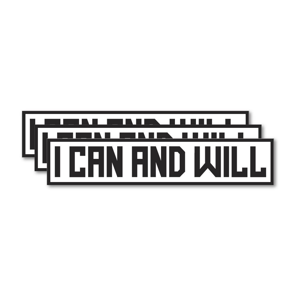 3X I Can And Will Sticker Decal