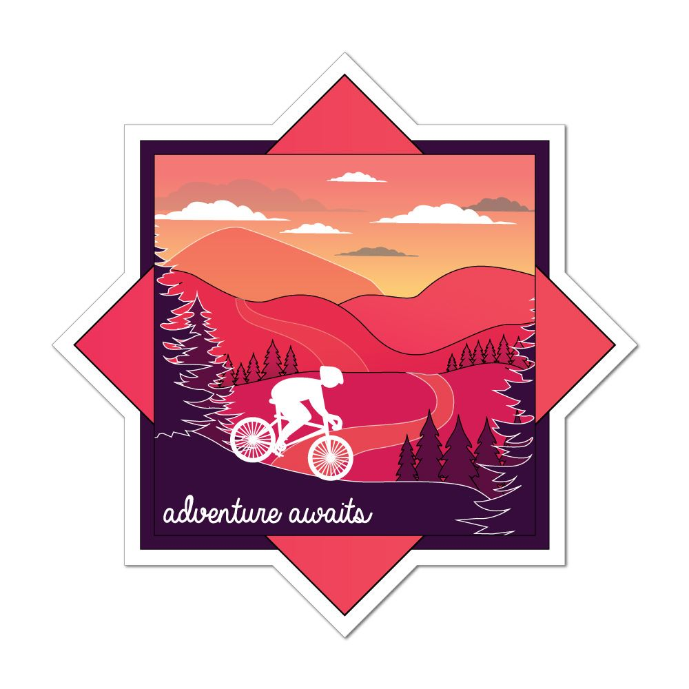 Adventure Awaits Car Sticker Decal