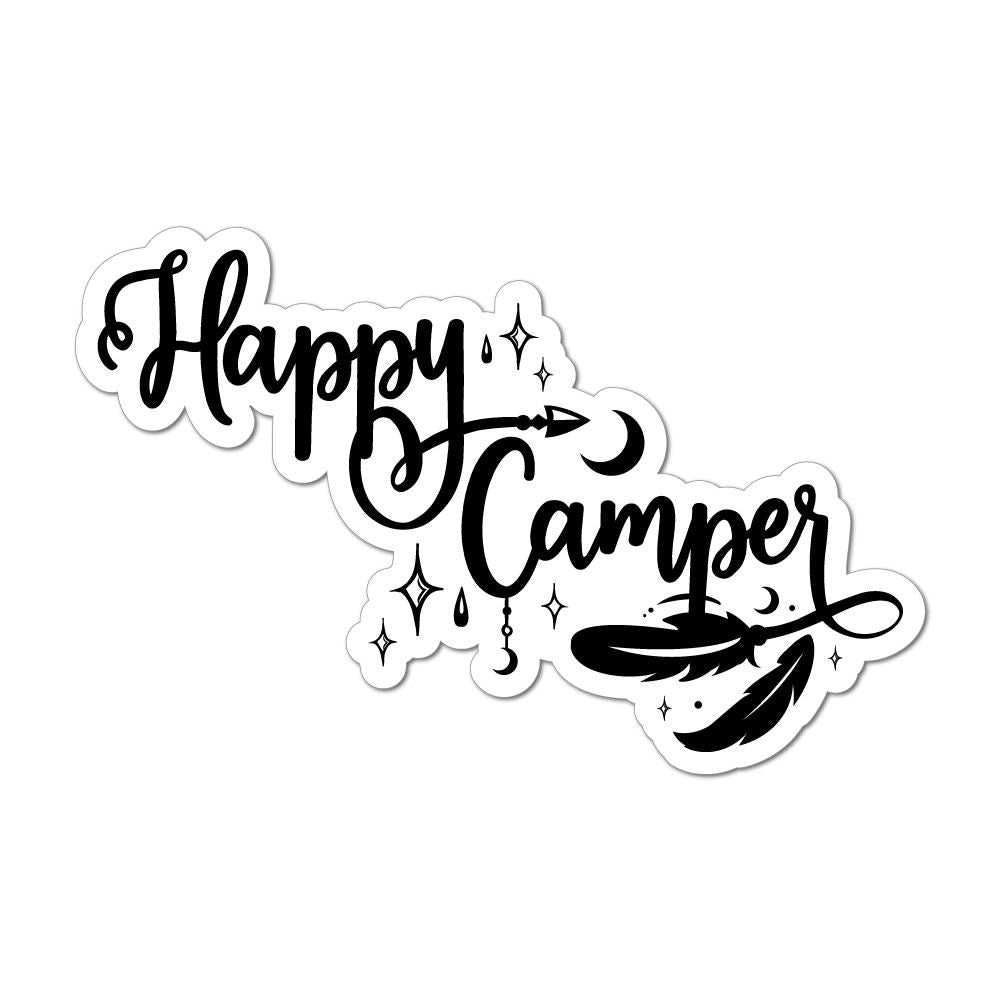 Happy Camper Laptop Car Sticker Decal