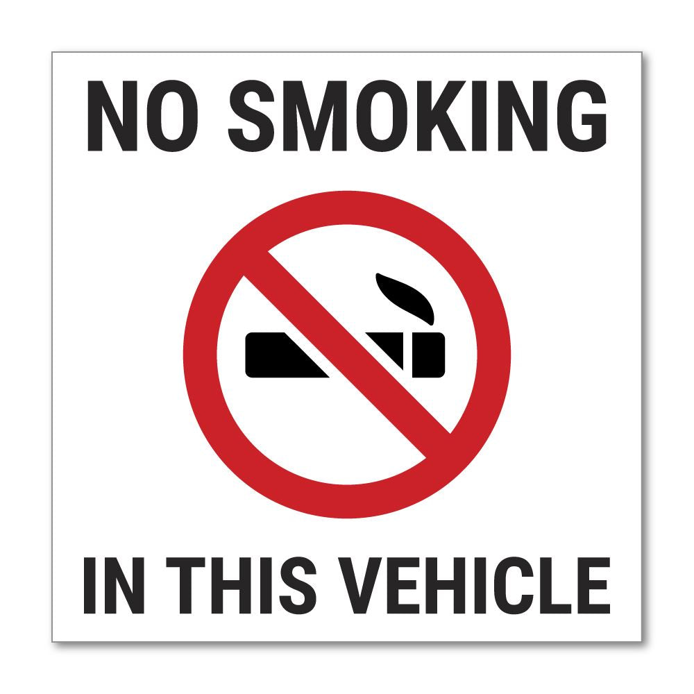 No Smoking In The Vehicle Sticker Decal