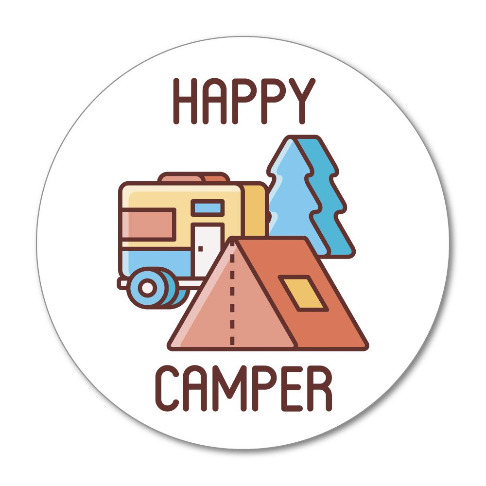 Happy Camper Sticker Decal