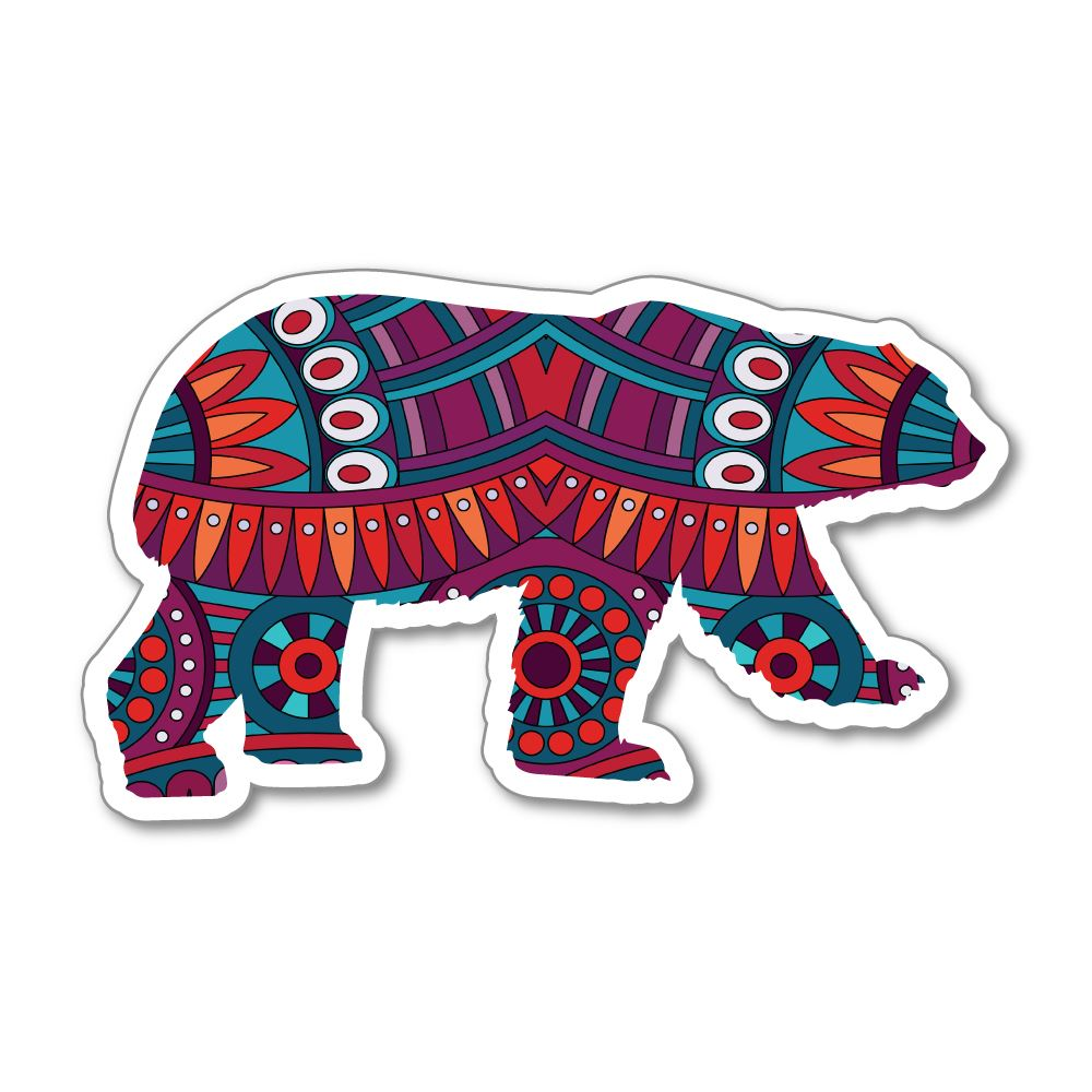 Space Bear Sticker Decal