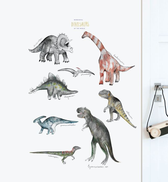 Dinosaurs Of The World Wall Sticker Decal