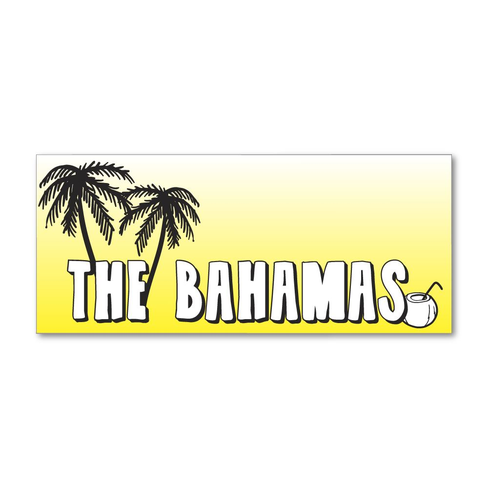 The Bahamas Caribbean Sticker Decal