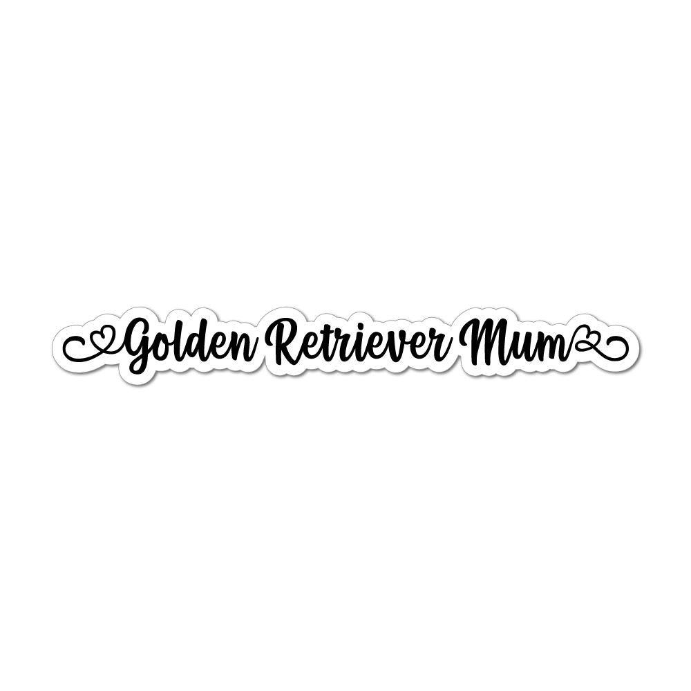 Golden Retriever Mum Laptop Car Sticker Decal