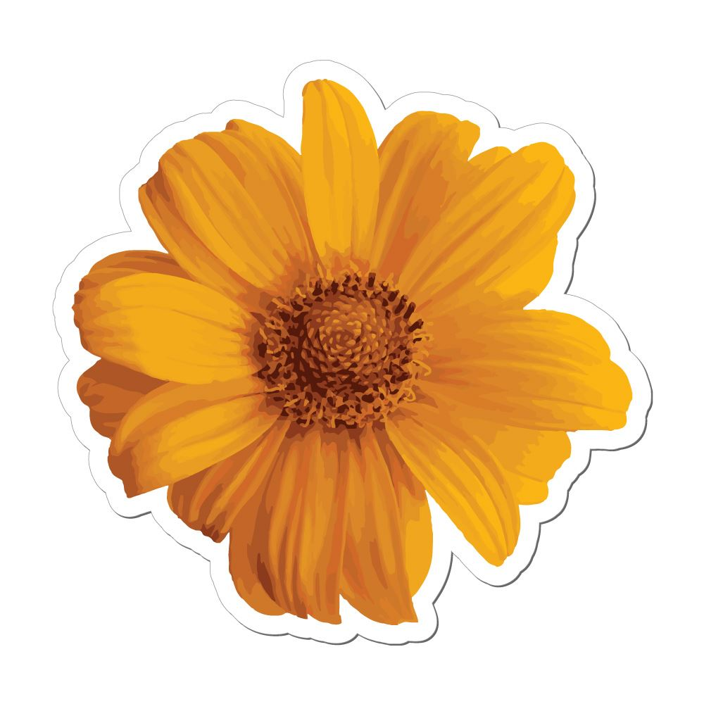 Pretty Flower Yellow Summer Beautiful Car Sticker Decal