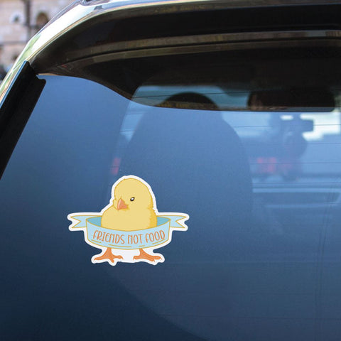 Friends Not Food Chicken Sticker Decal