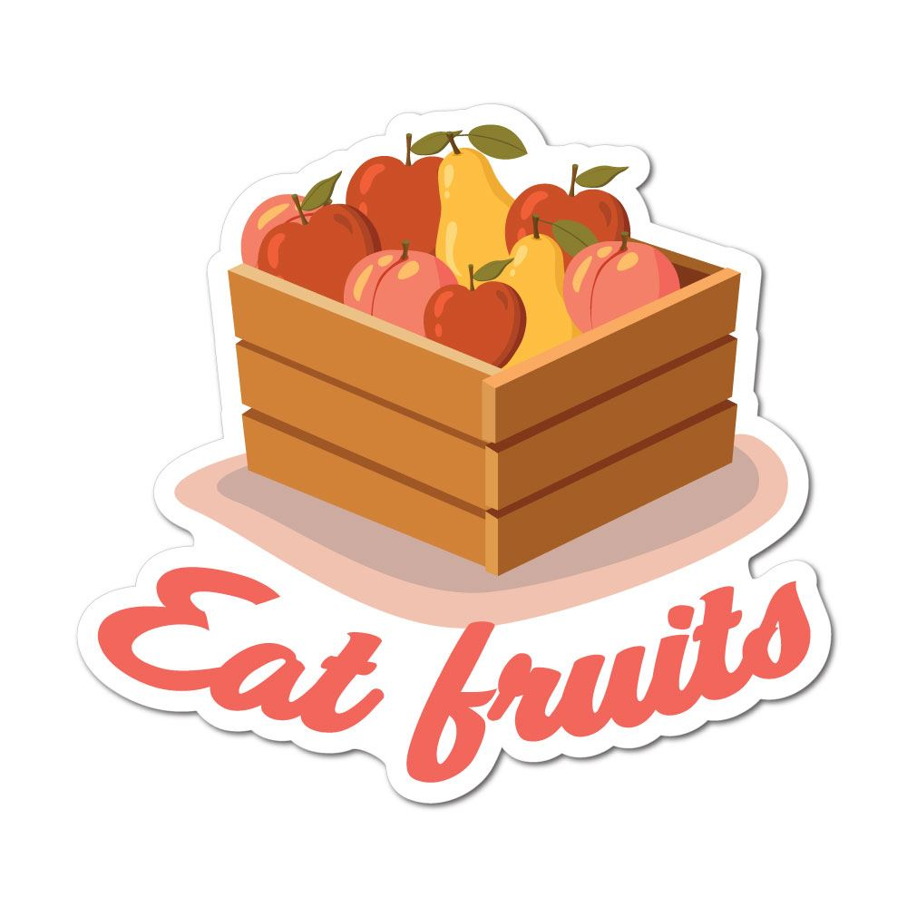 Eat Fruits Sticker Decal