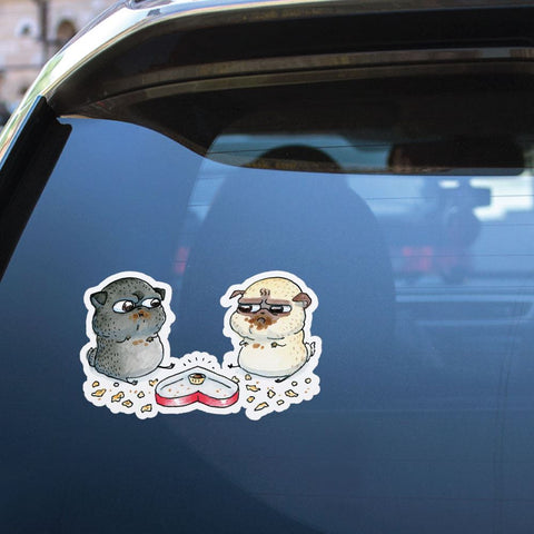 Last Is Mine Pug Fight Sticker Decal