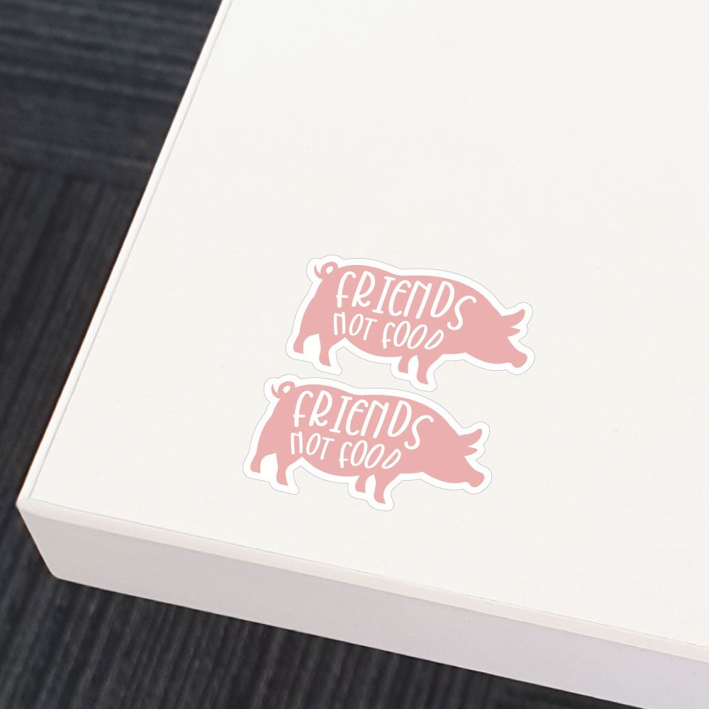 2X Friends Not Food Pig Silhouette Sticker Decal