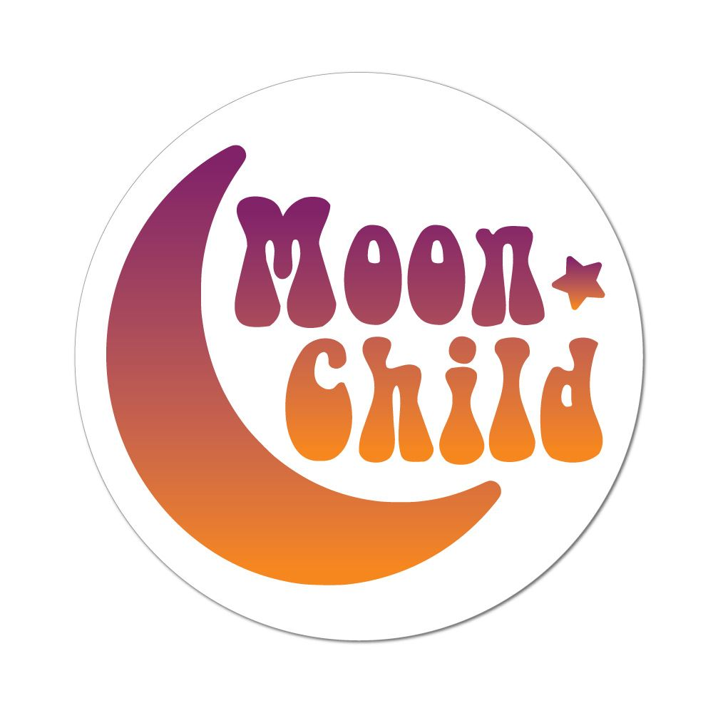 Moon Child Star Earth Hippy Fairy Hippie Boho Car Sticker Decal