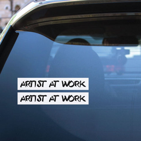 2X Artist At Work Sticker Decal
