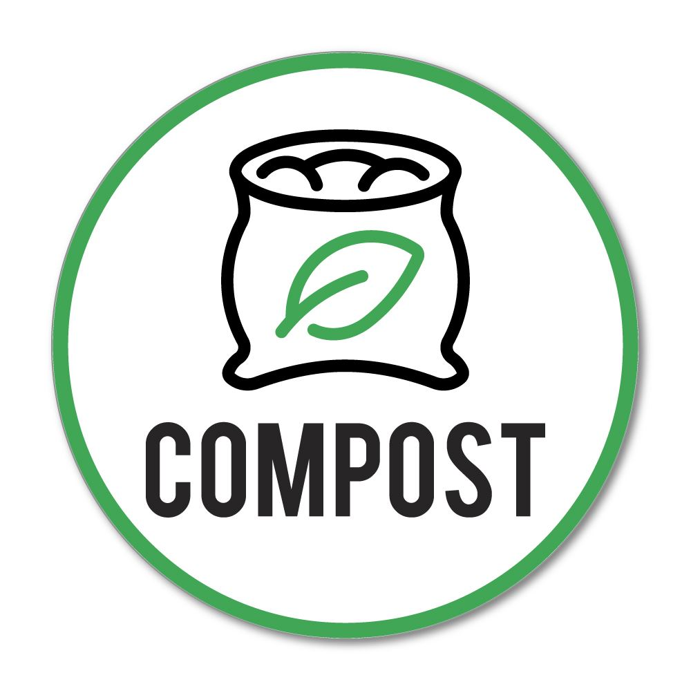 Compost Recycle Sticker Decal