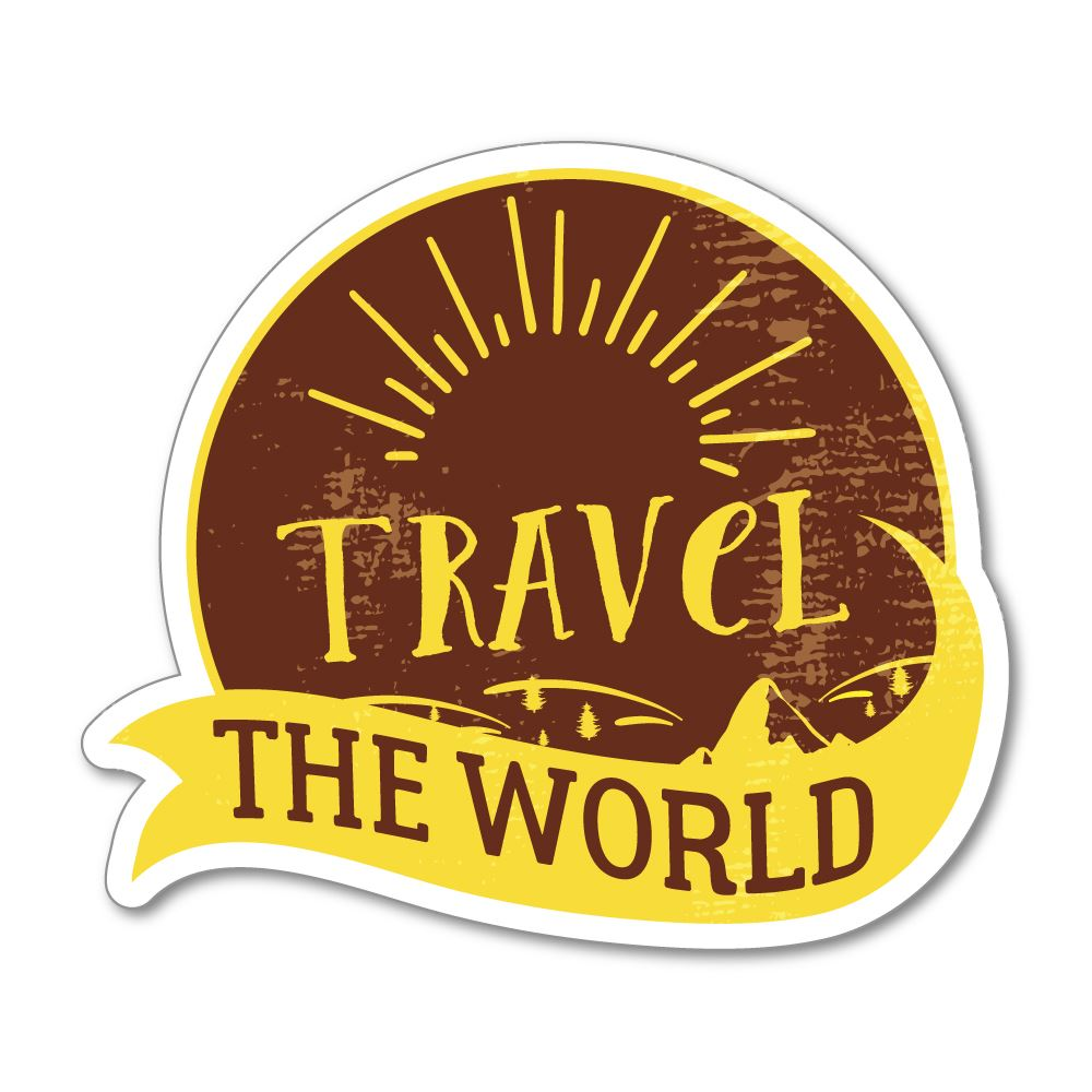 Travel The World Sticker Decal