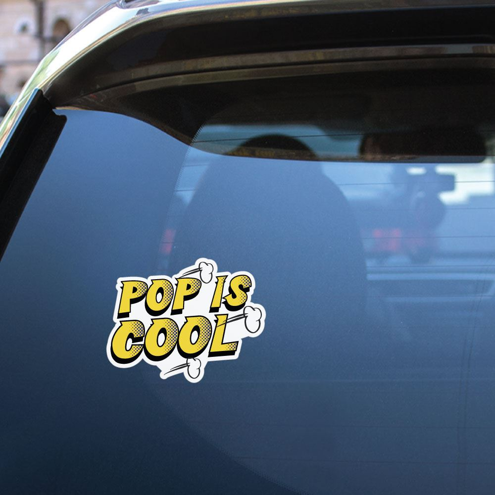 Pop Is Cool Sticker Decal