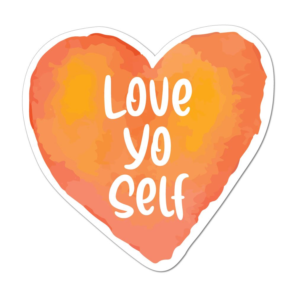 Love Yo Self Laptop Car Sticker Decal