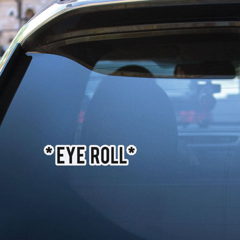 Eye Roll Sticker Decal