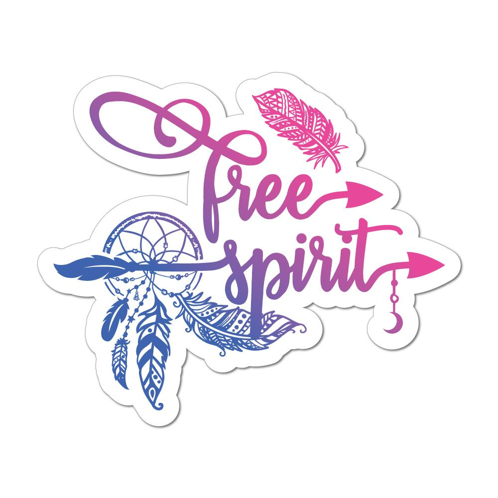 Free Spirit Car Sticker Decal