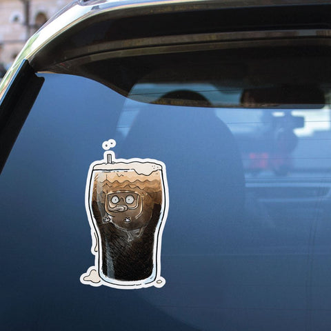 Pint Diving Pug Sticker Decal