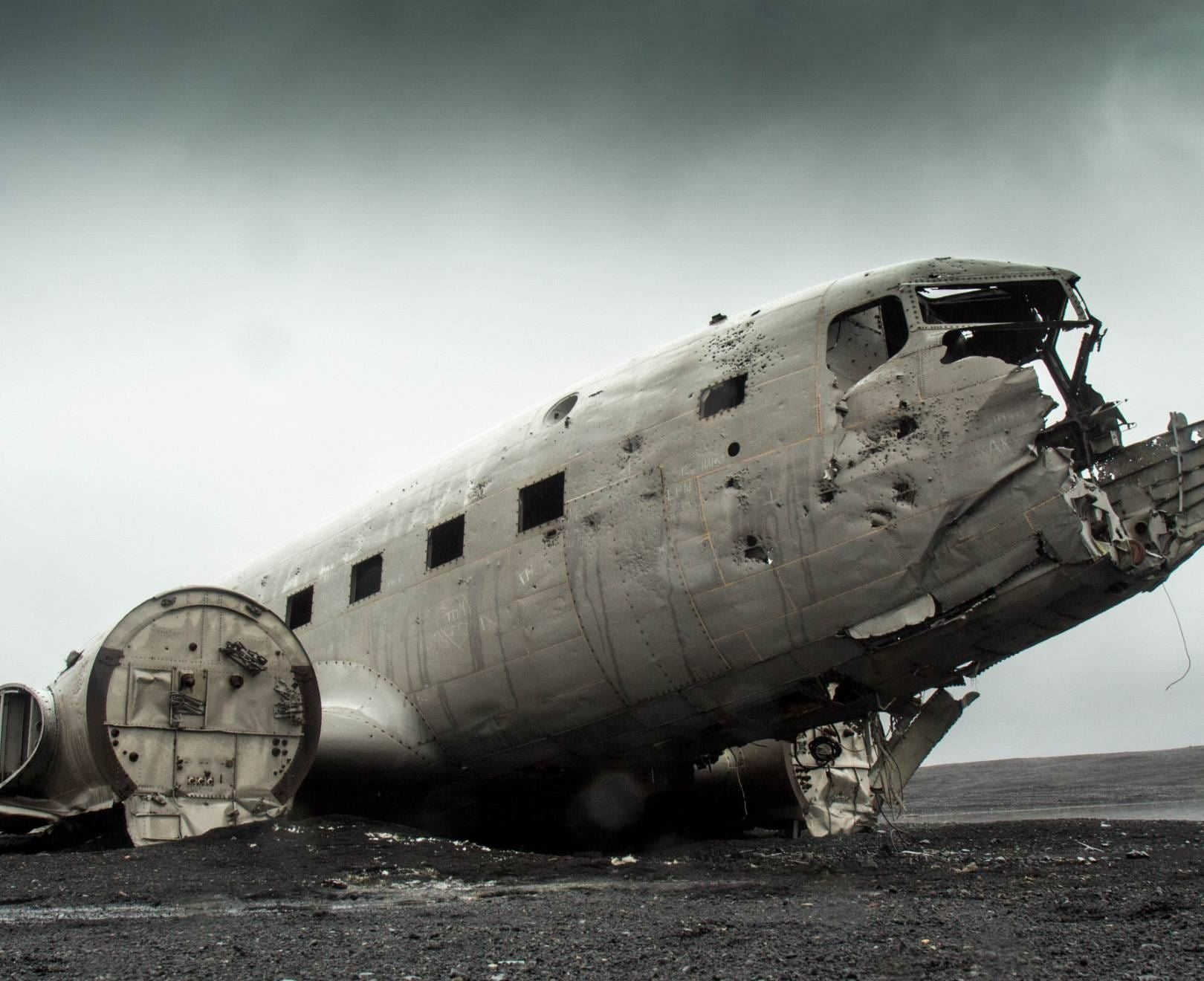 Crashed Aeroplane