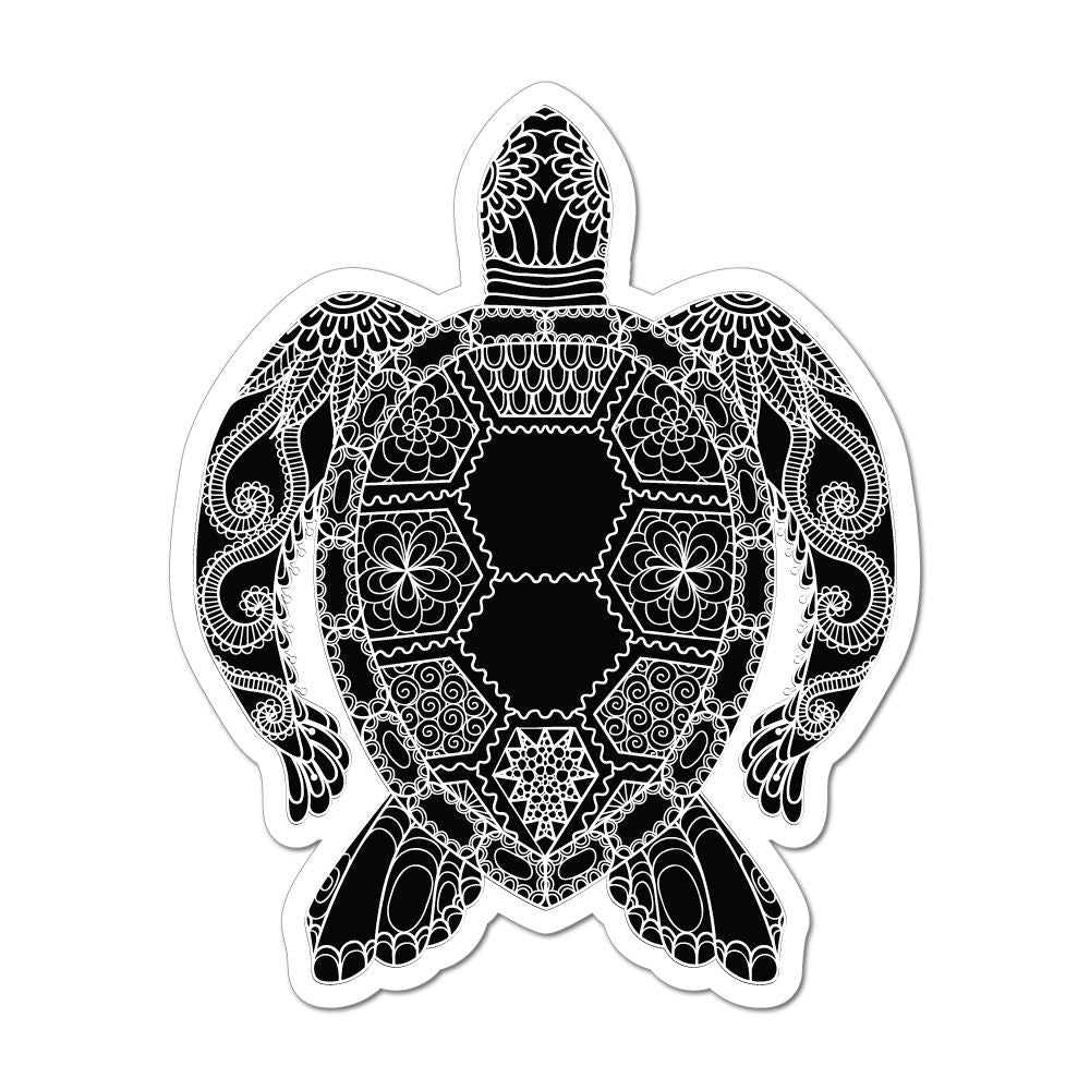 Turtle Henna Pattern Mandala Ocean Sea Animal Love Car Sticker Decal