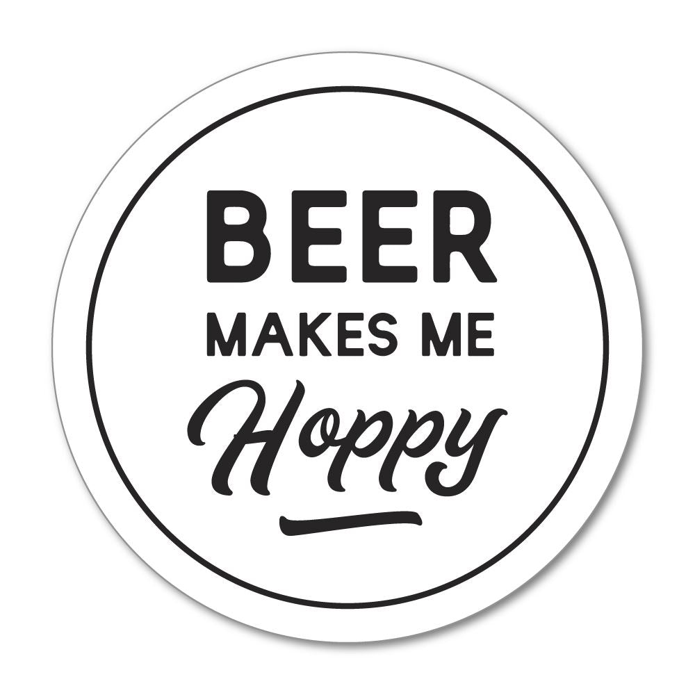 Beer Makes Me Hoppy  Sticker Decal