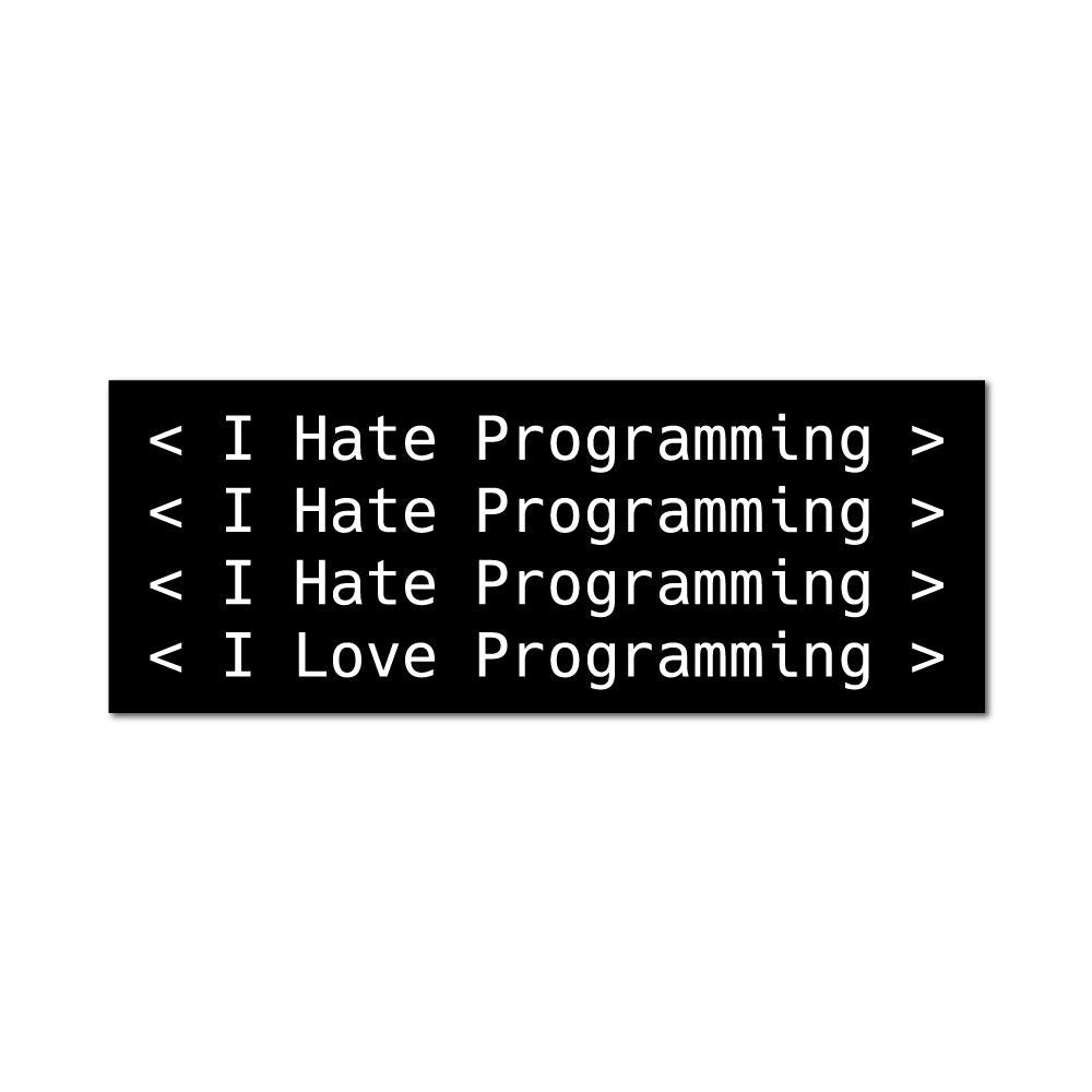 I Hate Programming Sticker Decal