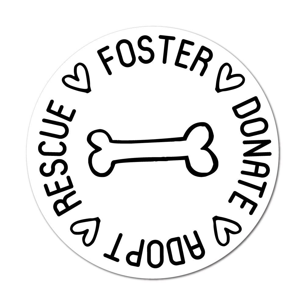 Adopt Rescue  Sticker Decal