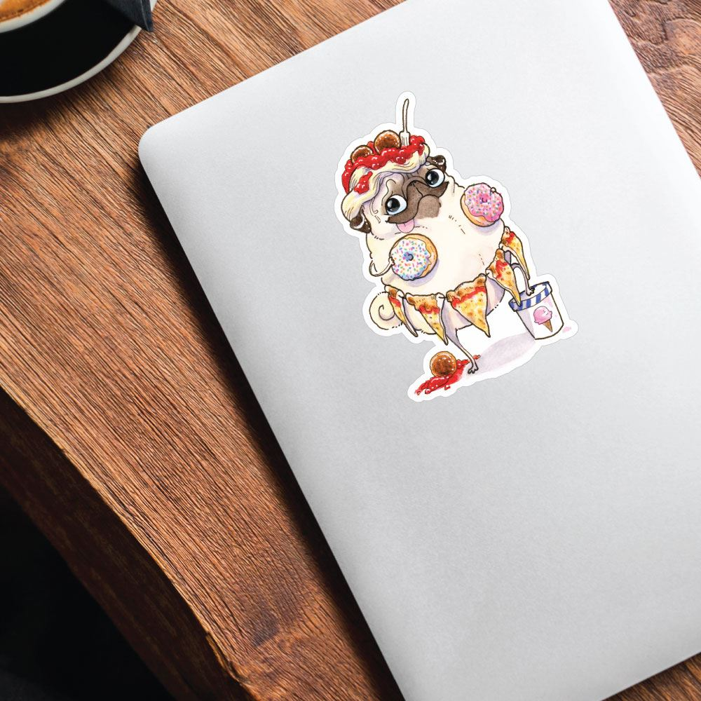 See Something You Like Pug Sticker Decal