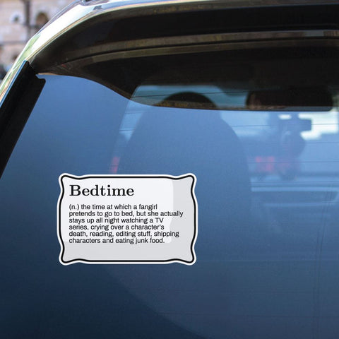 Bedtime Sticker Decal