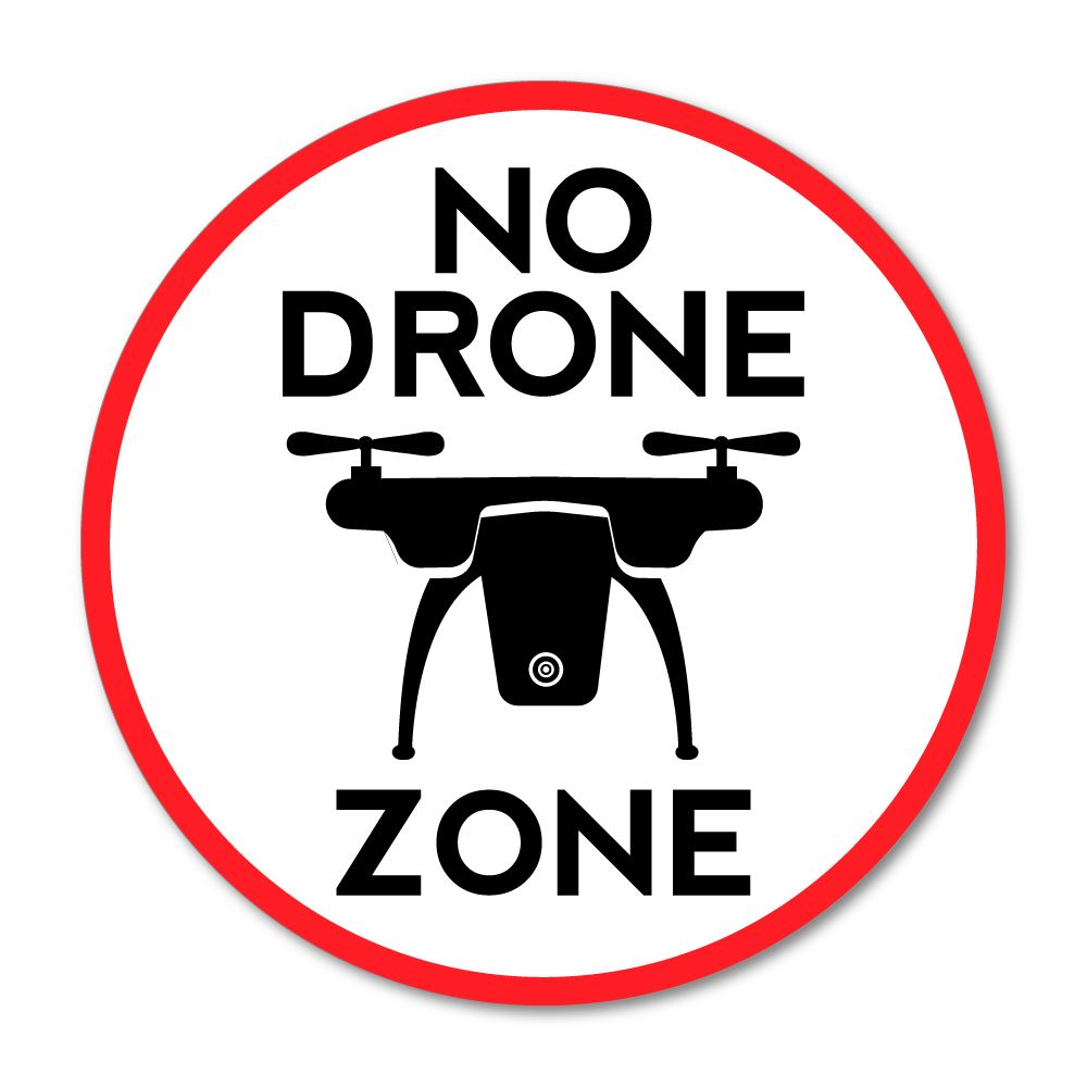No Drone Zone Sticker Decal