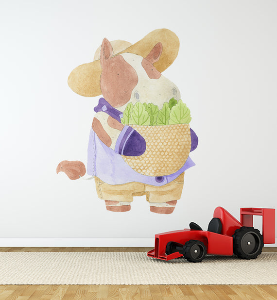Ruth The Cow Farmer Wall Sticker