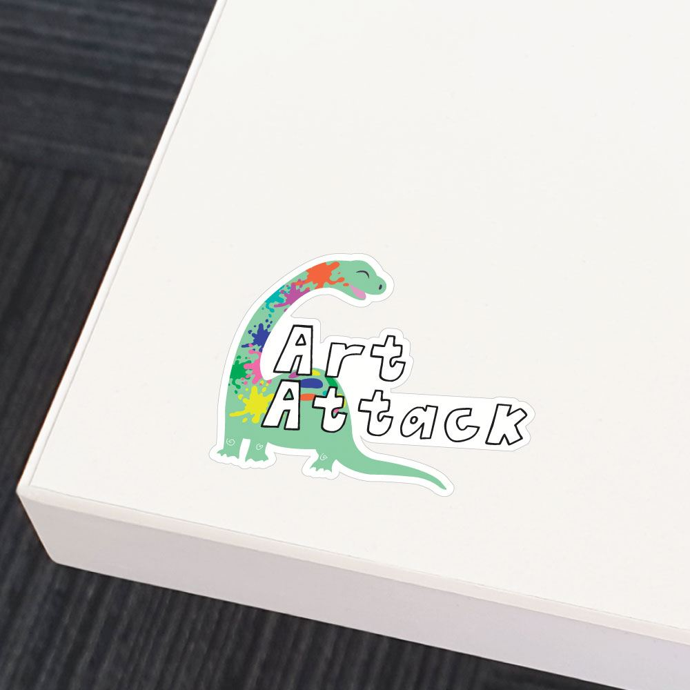 Art Attack Sticker Decal