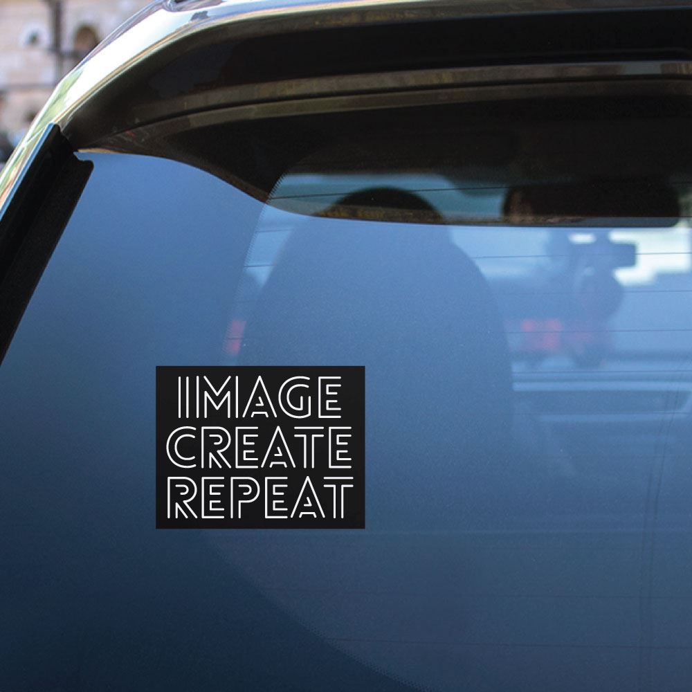 Image Create Repeat  Sticker Decal