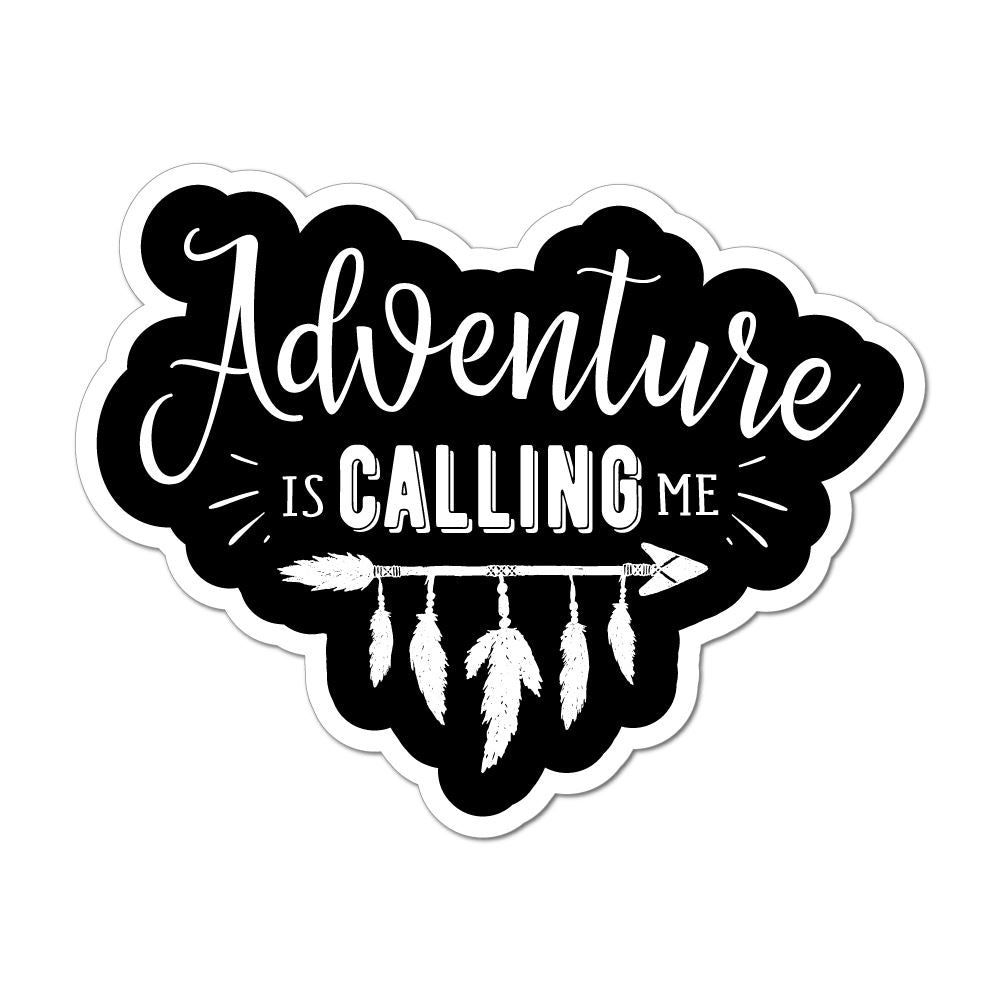 Adventure Is Calling Me Laptop Car Sticker Decal